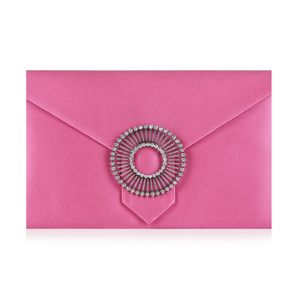 Edith Candy Pink Clutch