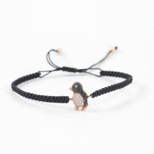 Makramee Penguin Black