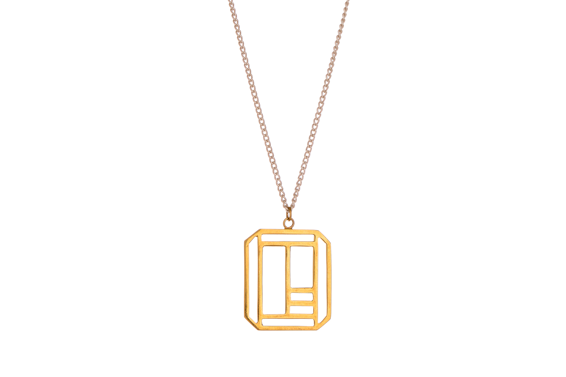 Octahedron Necklace – long